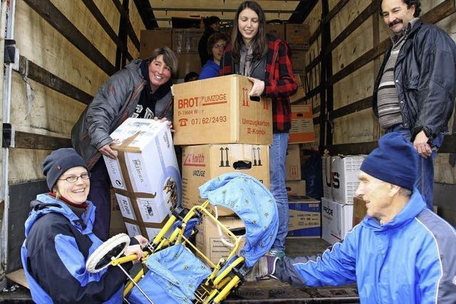 500 Pakete auf der Reise nach Rumänien