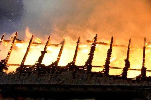 Historisches Gebäude in Oberprechtal abgebrannt