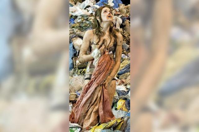 Im Müllsack entsorgt