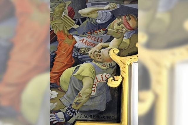 Der Maler der prügelnden Rocker