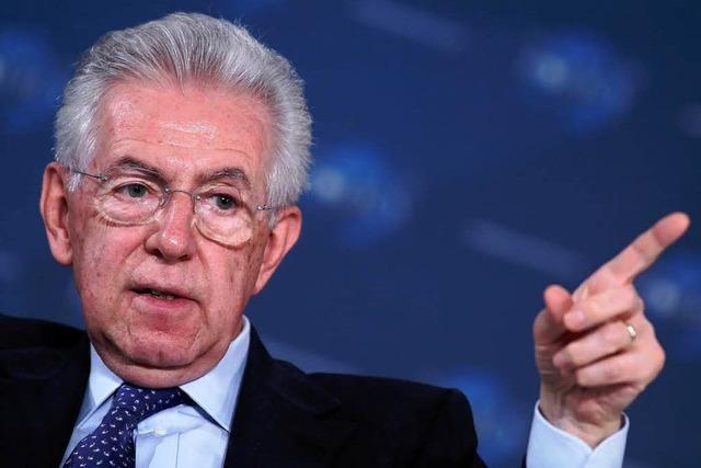 Monti kündigt baldigen Rücktritt an