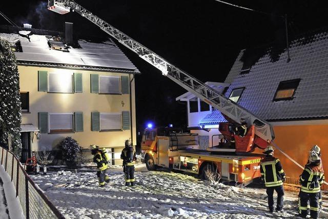 50000 Euro Schaden: Dachstuhlbrand in Zunsweier