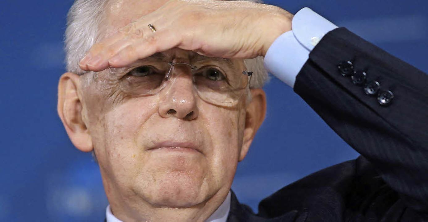 Quo vadis, Italien? Mario Monti, itali...013 wird voraussichtlich neu gewählt.     Foto: dpa