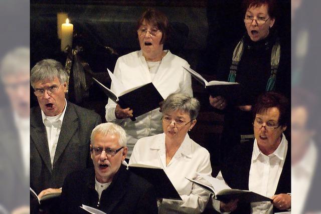 Der katholische Kirchenchor Minseln begeister die Zuhörer