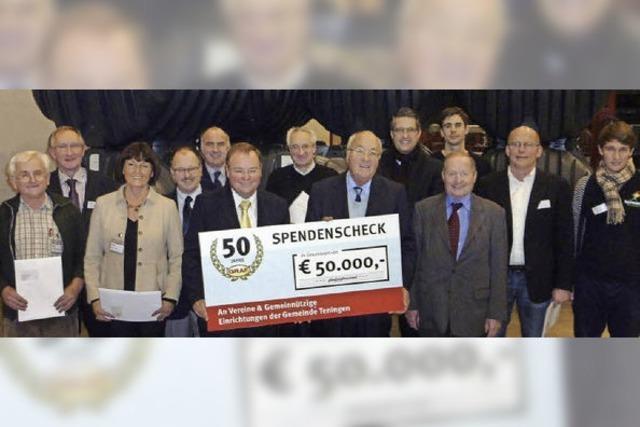 Otto Graf spendet 50 000 Euro
