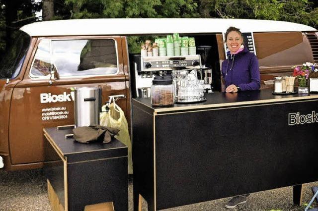 Rollende Minicafés sind in Freiburg groß in Mode
