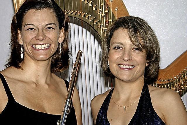Harfe und Flöte erklingen