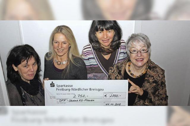Spende für obdachlose Frauen