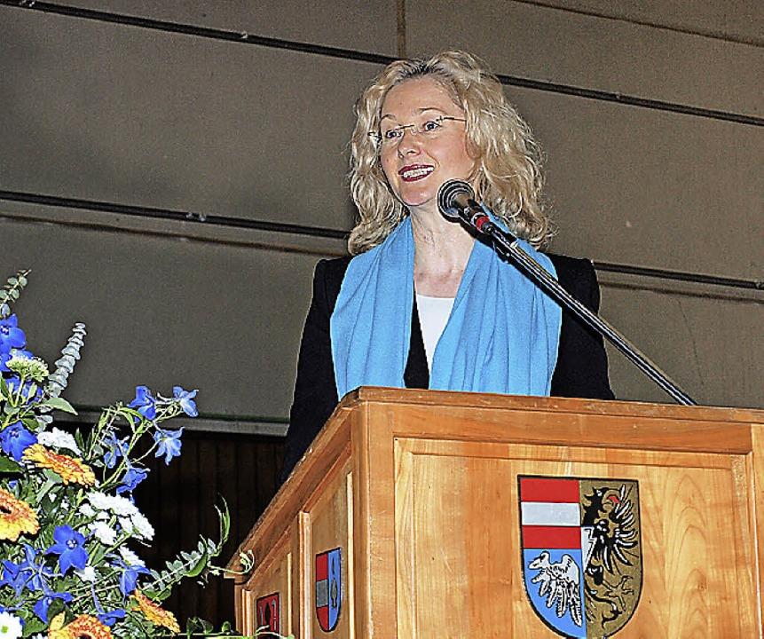 Kultusministerin Gabriele Warminski-Le...olzheim zum Thema Gemeinschaftsschule.  | Foto: Archivfoto: haberer
