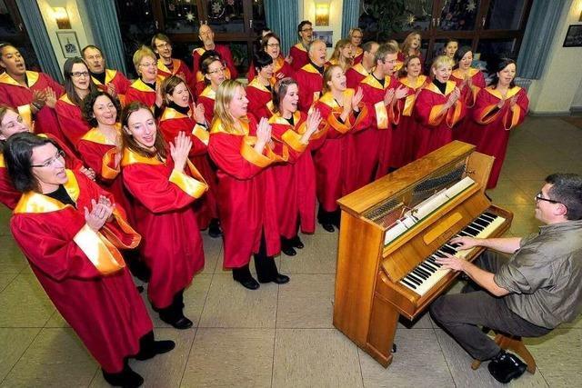 Freiburger singen im Advent: Voller Einsatz