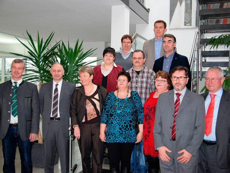 Langjährige Mitarbeiterinnen und Mitar...mann in Breisach wurden jüngst geehrt.  | Foto: Hans-Jochen Voigt