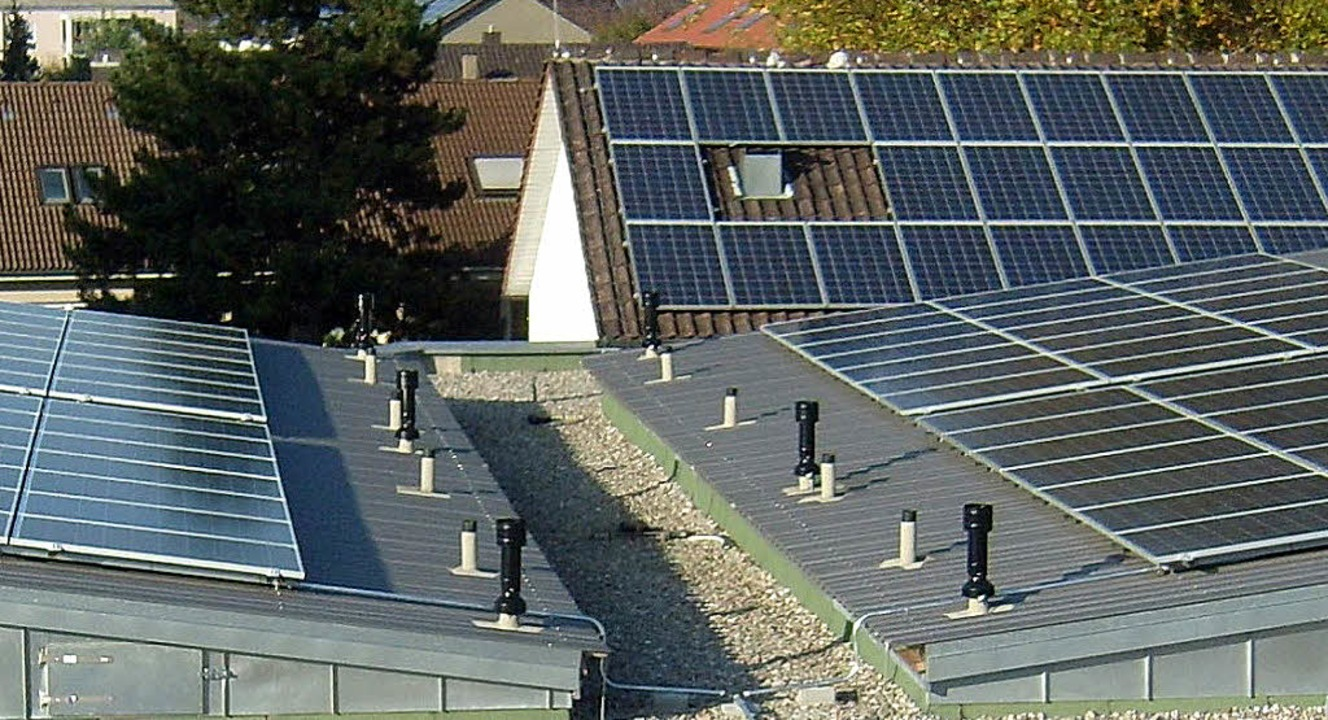 Die Dächer der Bürgerheim-Anlage sind gut mit Photovoltaikanlagen bestückt.   | Foto: privat
