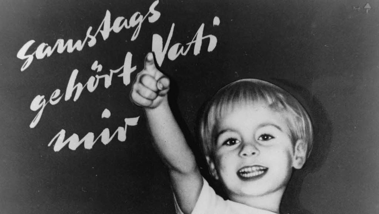 Altes Motto, aktuelles Thema: Mit dies...er DGB 1956 für die 40-Stunden-Woche.   | Foto: Ullstein-Bild
