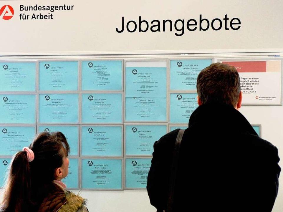 Der deutsche Arbeitsmarkt steht noch i...nternehmen suchen neue Mitarbeiter ...  | Foto: Verwendung weltweit, usage worldwide