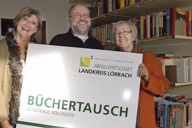 Büchertausch in Nollingen - eine Einrichtung boomt