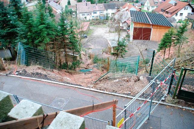 Am Nettenberg in Degerfelden rutscht der Hang