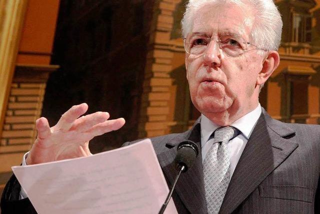 Monti zieht in den Wahlkampf
