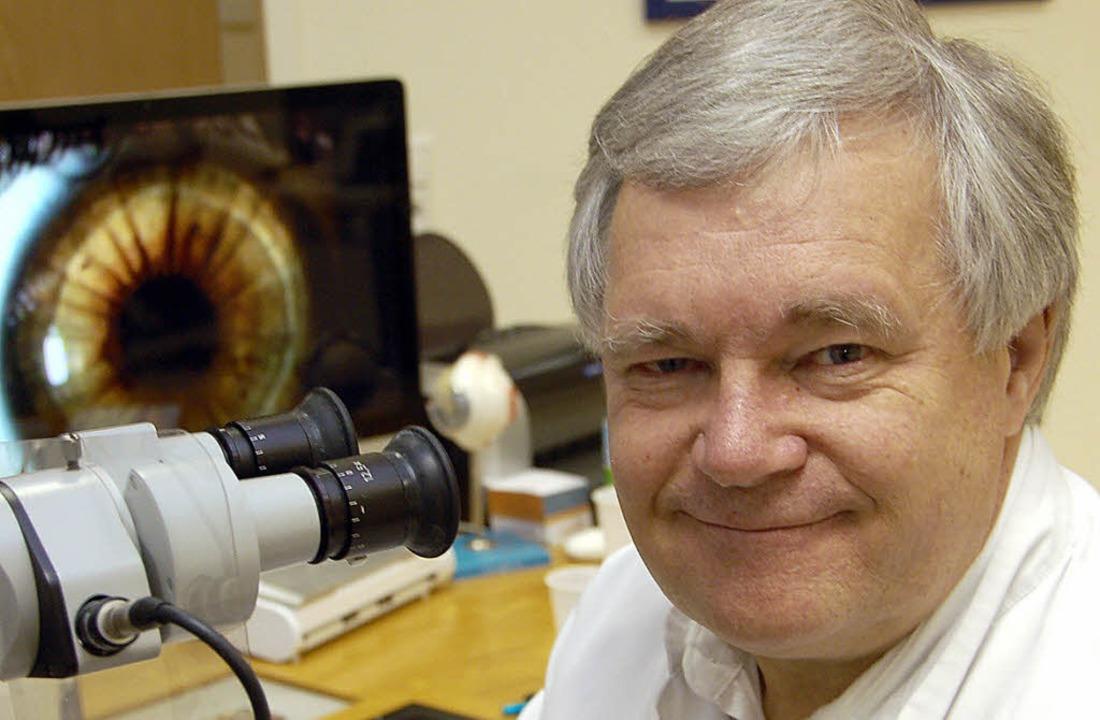 Rudolf Horn beendet seine Tätigkeit als Augenarzt.  | Foto: wolfgang beck