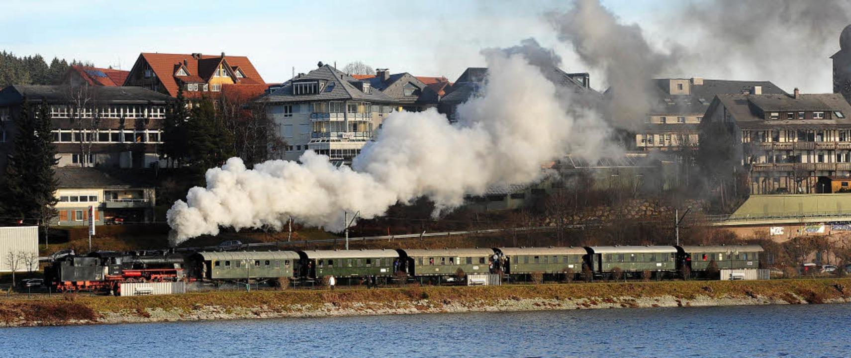 damfzug am schluchsee, dreiseenbahn    Foto: vitus arnold