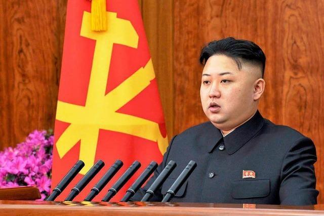Nordkoreas Machthaber Kim geht auf Südkorea zu