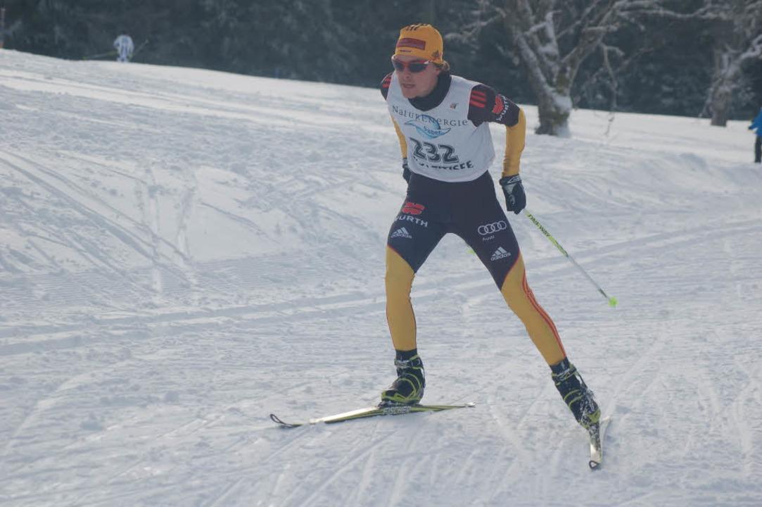 Mit raumgreifendem Schritt lief Fabian...überlegenen Sieg über zehn Kilometer.   | Foto: helmut Junkel