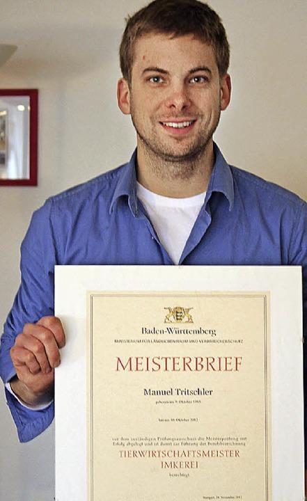 Frisch gebackener Meister: Manuel Tritschler  | Foto: O. Faller