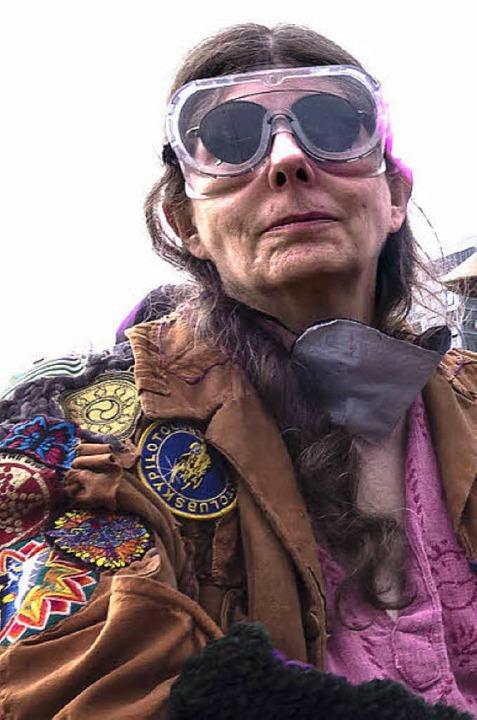 Kalifornische Hippie-Lady