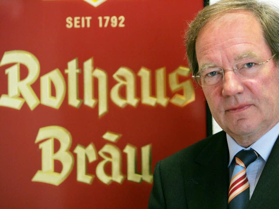 Sein letztes Amt: Alleinvorstand der l...uerei Rothaus in Grafenhausen-Rothaus.  | Foto: dpa