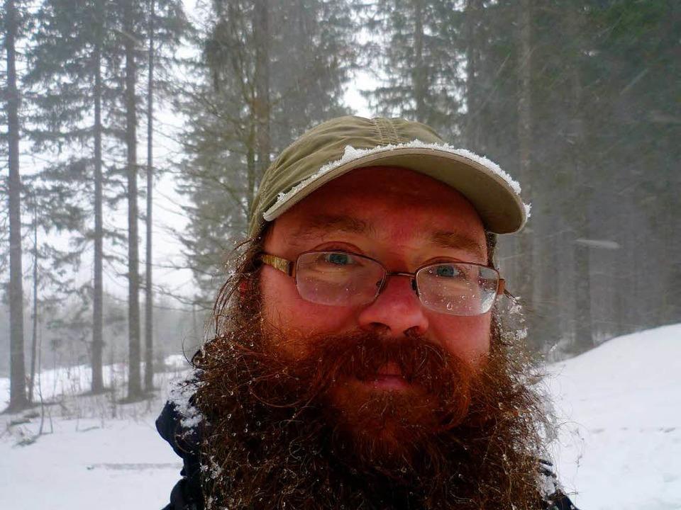 Christoph Kurth beim eher nasskalten Training am Notschrei.    Foto: Christoph Kurth