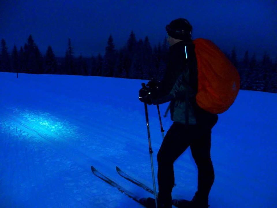So wie beim Training im nächtlichen Sc...Jörn Theissig (Bild) in Kanada laufen.    Foto: Christoph Kurth