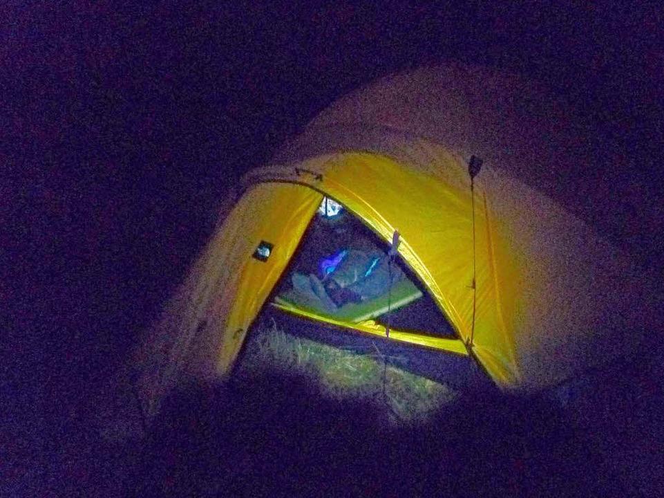 In so einem Zelt werden die beiden Ext...d Jörn Theissig in Kanada übernachten.    Foto: Christoph Kurth