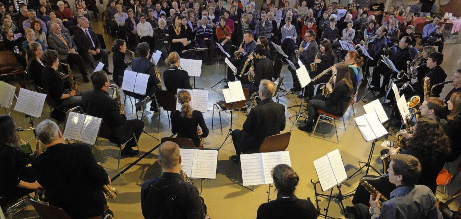 Das Saxophonorchester beim Abschluss des Akademiejahres.  | Foto: Katharina Bächle
