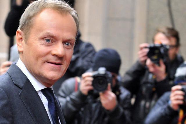 Mitten in der Eurokrise will Tusk in die Währungsunion