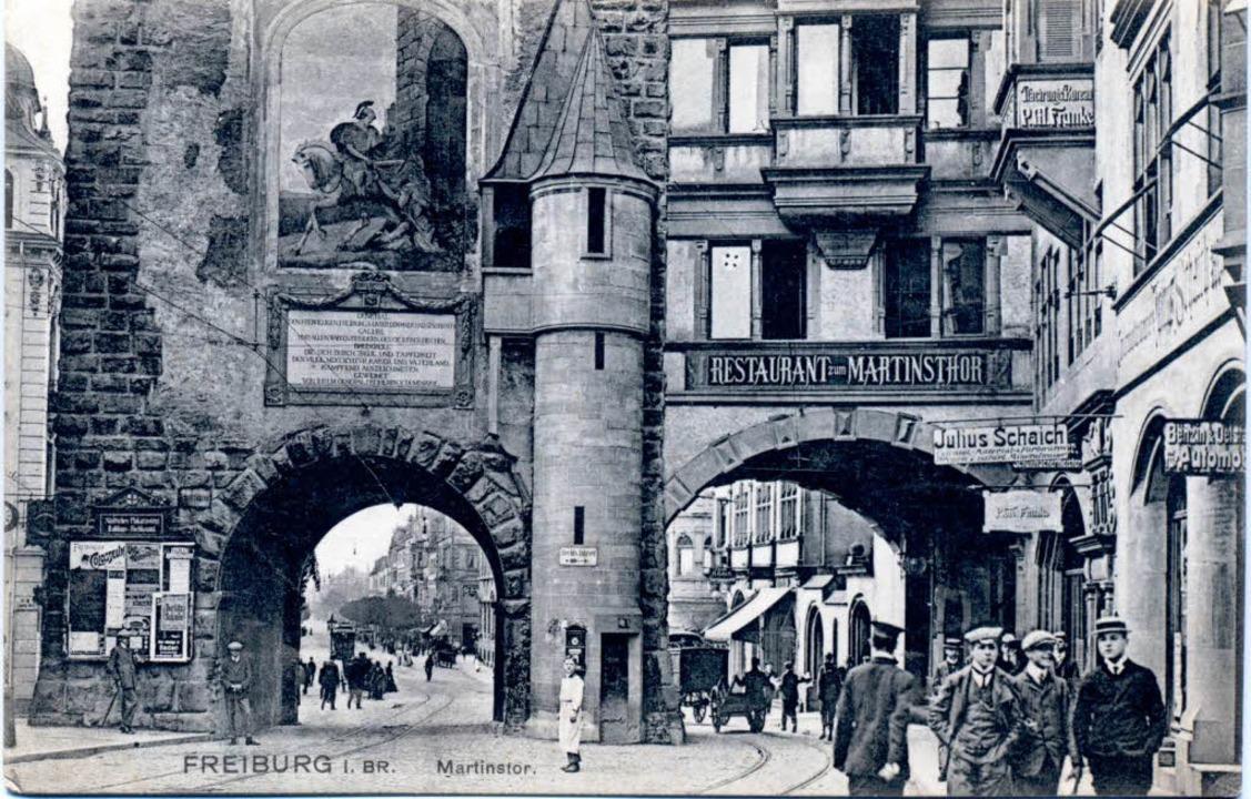 Das Martinstor um die Jahrhundertwende...n ist, weil es stark beschädigt war.    | Foto: Privat
