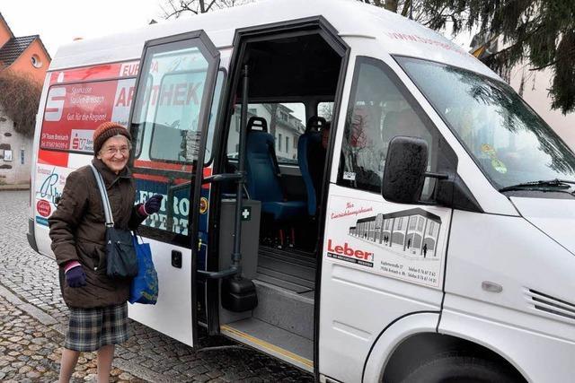 Breisacher Bürgerbus kommt gut an – Auslastung könnte besser sein