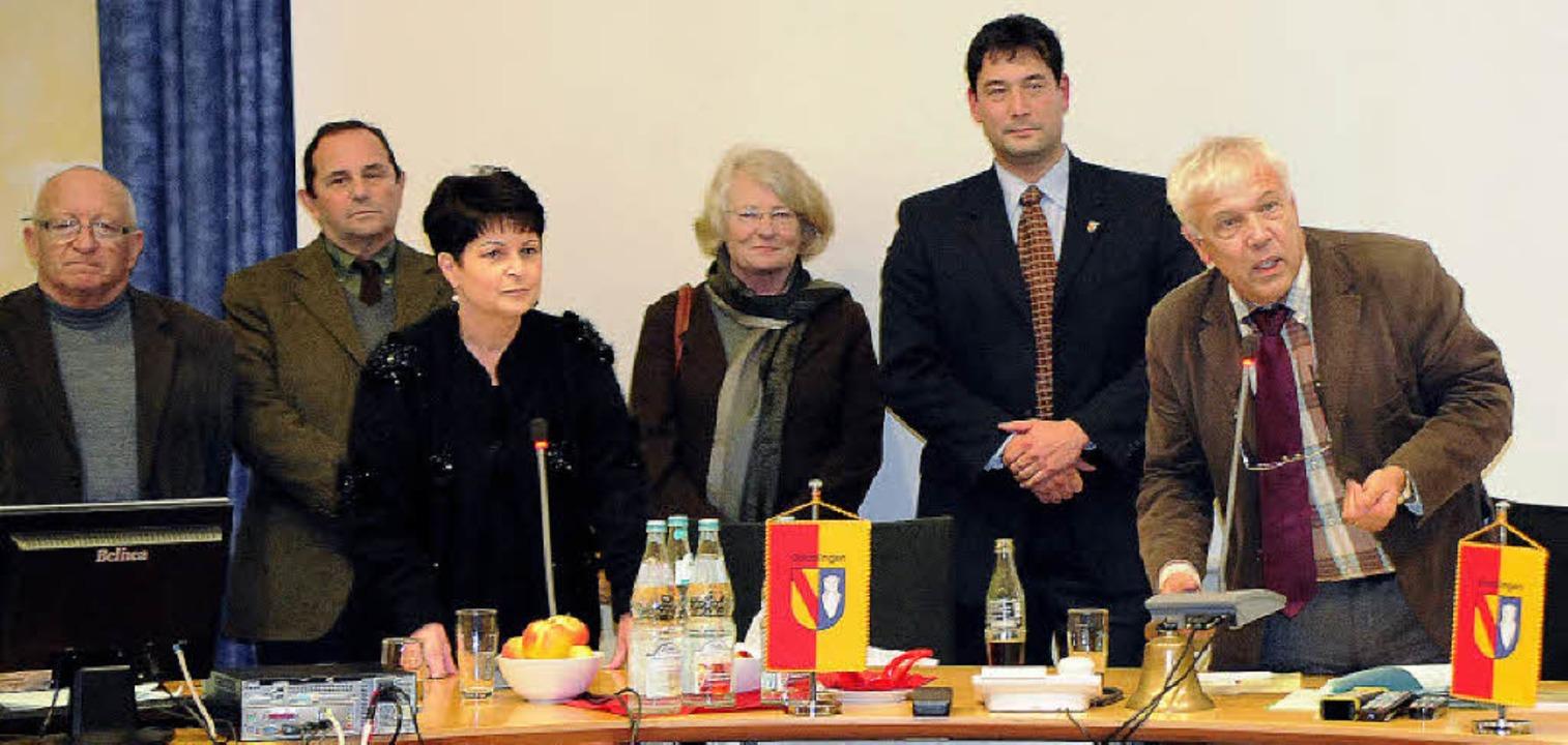 Engagiert zeigte sich Philippe Barthél...urzbesuchs beim Denzlinger Gemeinderat    Foto: Markus Zimmermann, Markus Zimmermann