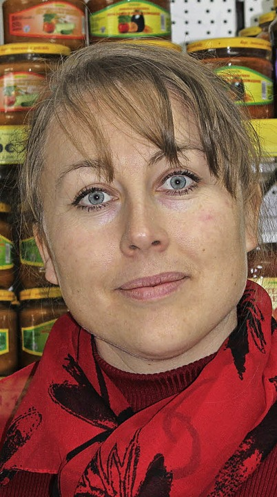 Olga Ritscher aus Löffingen eröffnete ...päischen und russischen Spezialitäten.  | Foto: Christa Maier