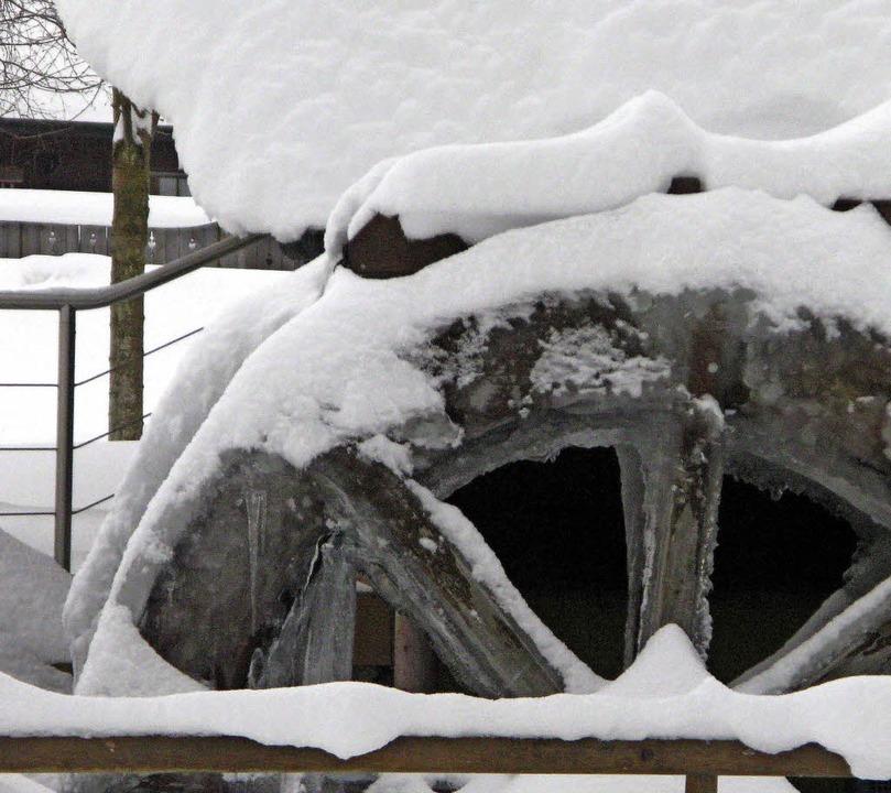 Im Winter ruht das Mühlrad.   | Foto: Ulrike Spiegelhalter