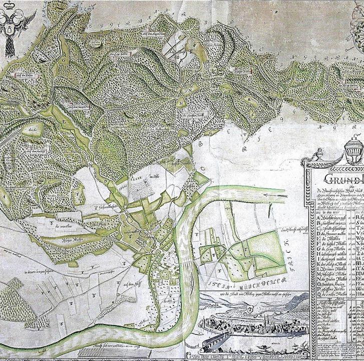 Die erste Säckinger Gemarkungskarte von 1780  | Foto: Richard Kaiser