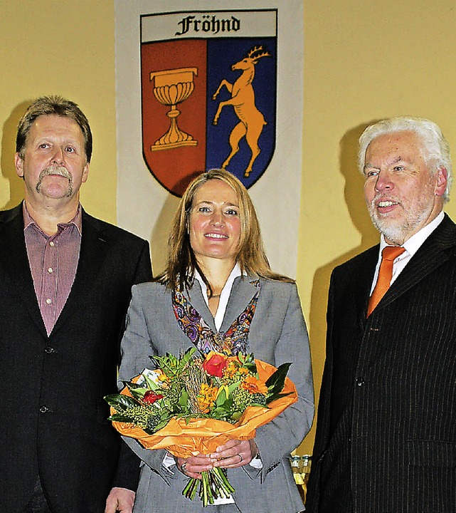 Bürgermeisterstellvertreter Georg Zimm...hard Wiezel wünschte ihr viel Erfolg.   | Foto: felix held