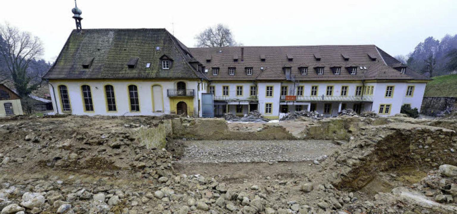Hinter dem ehemaligen Kartäuserkloster...n zur Zeit Bagger und Wissenschaftler.    Foto: ingo schneider