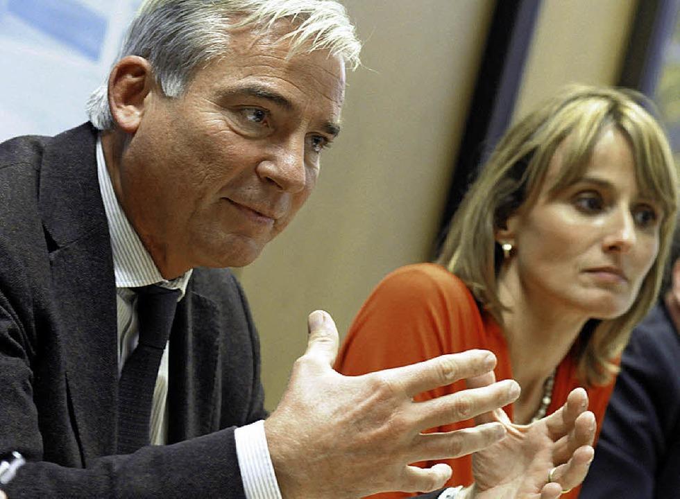 CDU-Landeschef Thomas Strobl und die Projektinitiatorin Katrin Schütz     Foto: dpa