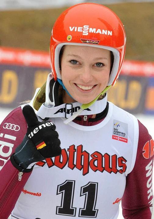Sportsoldatin Melanie Faißt ist im Juni  nach Oberstdorf umgezogen.    | Foto: Seeger/dpa