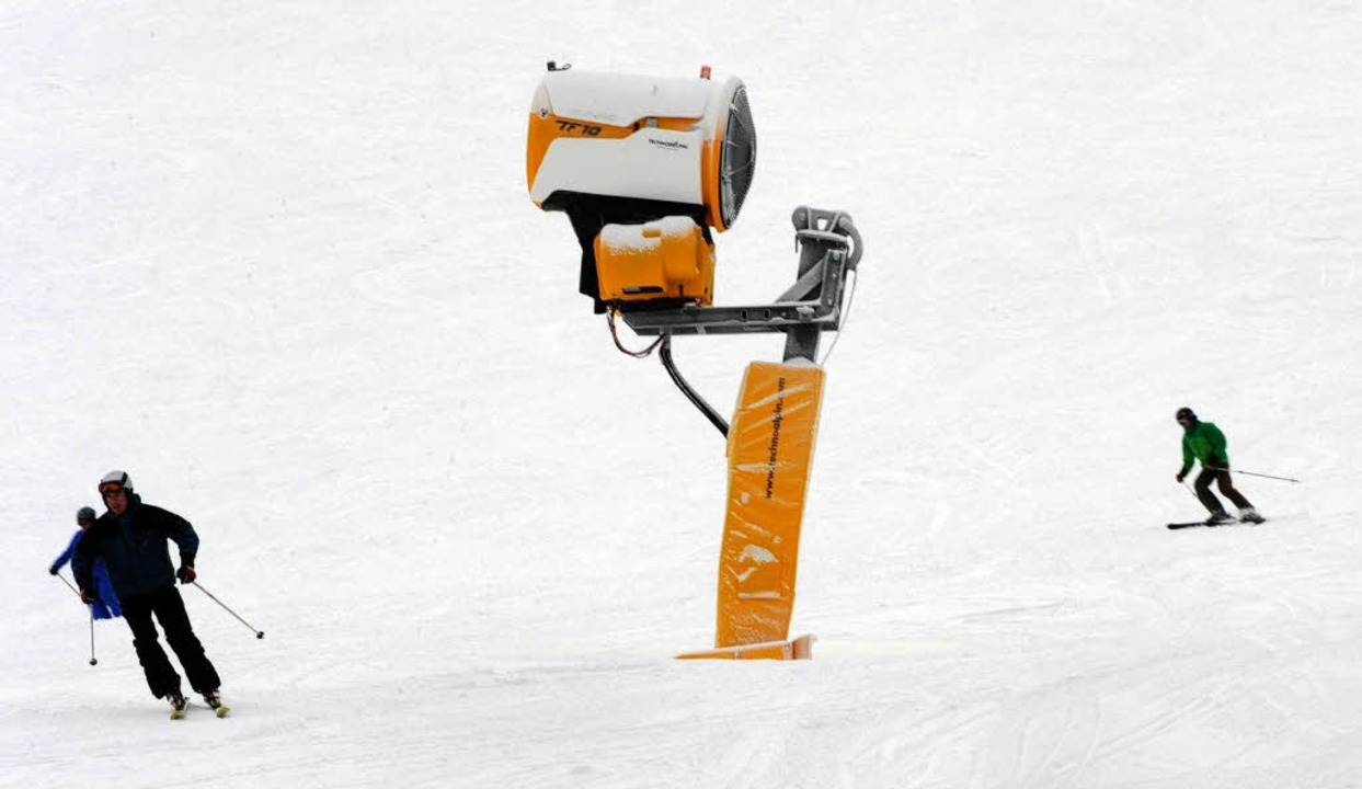 Ski fahren am Freitag am Feldberg.    Foto: dpa