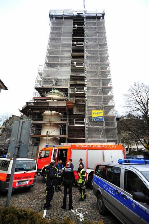 Das Schwabentor in Freiburg wird derze...h ein Mann durch einen Sturz verletzt.  | Foto: Thomas Kunz