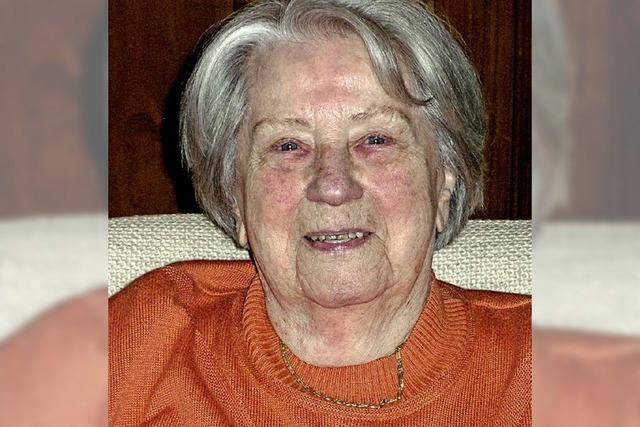 Gisela Schreiber wurde 90 Jahre