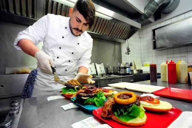 Burger mit Biss bietet