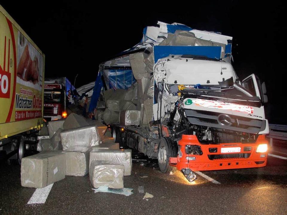 """Auch der Fahrer dieses Lkw blieb unver...mme"""", wie die Polizei es meldet.    Foto: privat"""