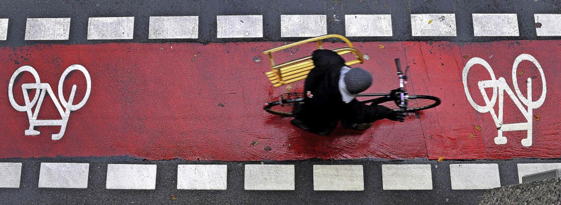 Radwege sind nützlich – im Einze...ür saisonal bedingte Kleintransporte.   | Foto: Thomas Kunz