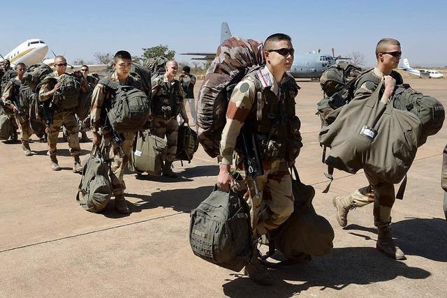 Bodentruppen auf dem Weg nach Nord-Mali